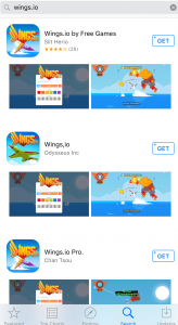 None of these are legitimate versions of wings.io